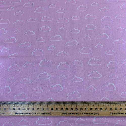Rainbow Etchings Baby Pink by Stuart Hillard Cotton Fabric - £9 per metre