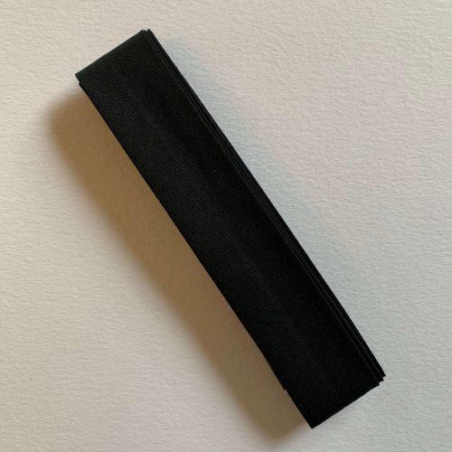 Bias Binding: Polycotton: 2.5m x 25mm: Black