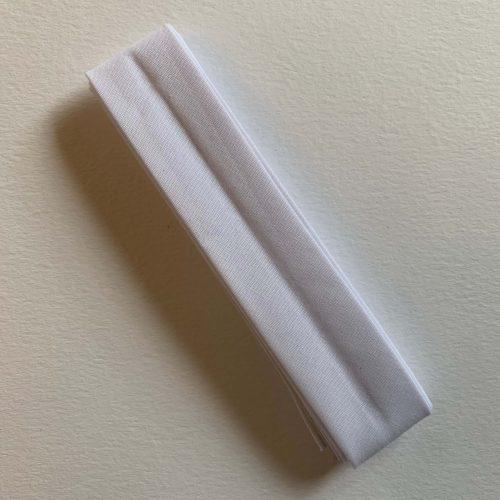 Bias Binding: Polycotton: 2.5m x 25mm: White