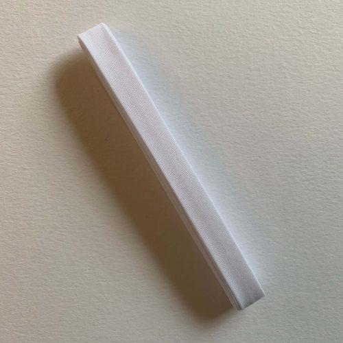 Bias Binding: Polycotton: 2.5m x 12mm: White