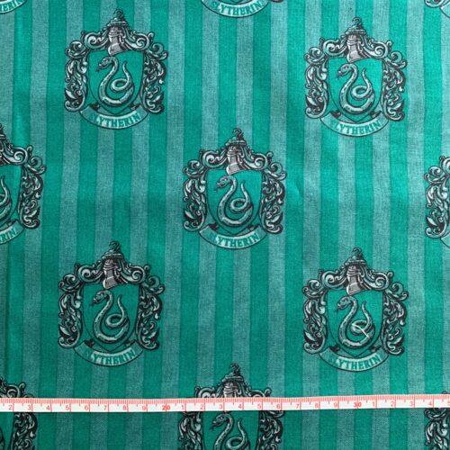 Harry Potter Slytherin House Cotton Fabric - Fat Quarter