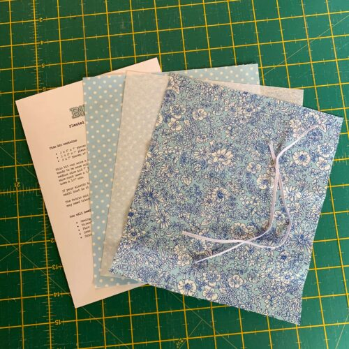 Pleated Face Mask Kit: Liberty The Flower Show Spring: Emily Silhouette Blue