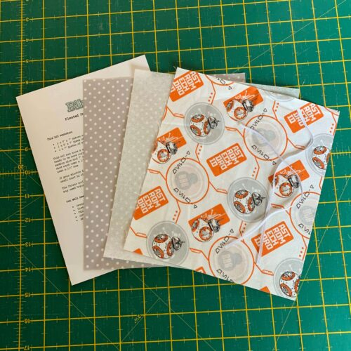 Pleated Face Mask Kit: Star Wars: BB8