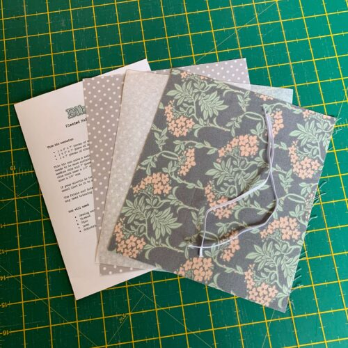 Pleated Face Mask Kit: Liberty The Hesketh House: Nouveau Mayflower