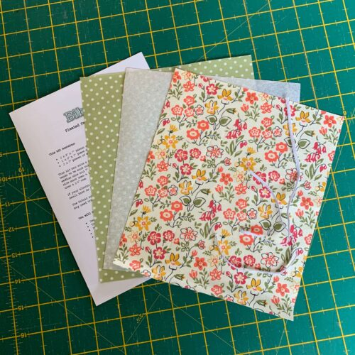 Pleated Face Mask Kit: Liberty The Cottage Garden: Lawn Games Coral