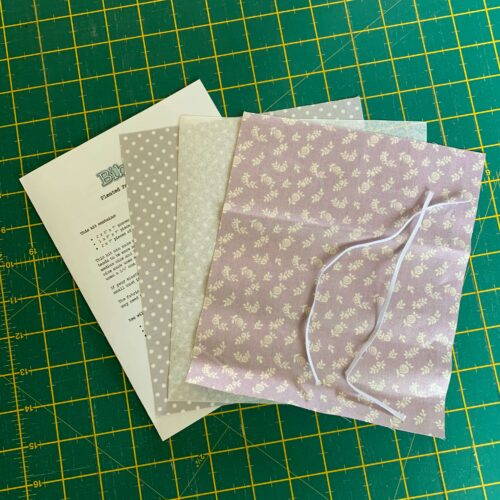 Pleated Face Mask Kit: Liberty The English Garden: English Berry Lilac