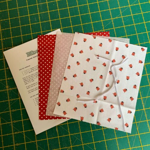 Pleated Face Mask Kit: Riley Blake: Petals & Pots Ladybugs