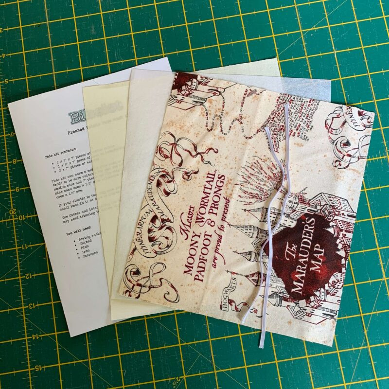 Pleated Face Mask Kit: Harry Potter: Marauders Map