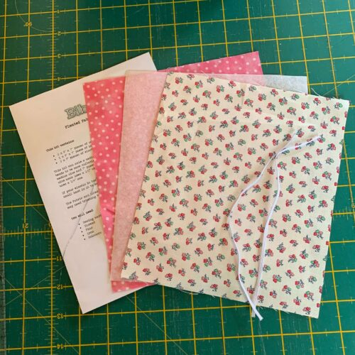 Pleated Face Mask Kit: Liberty Tea for Two: Heart Bouquet