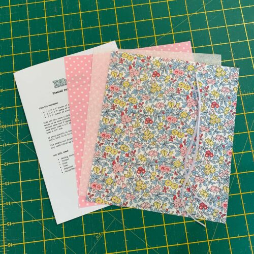 Pleated Face Mask Kit: Liberty Flower Show Spring: Forget Me Not Blossom