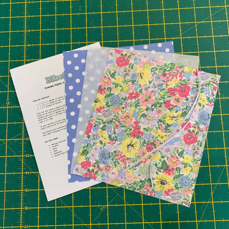 Pleated Face Mask Kit: Liberty Flower Show Spring: Malvern Meadow