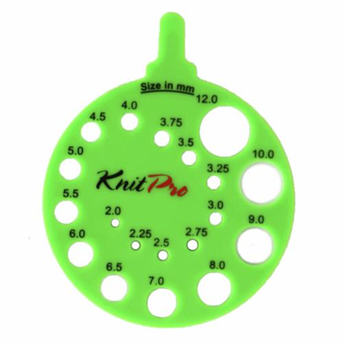 KnitPro Round Needle Size Gauge: Envy Green