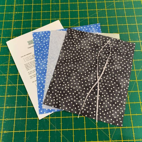 Pleated Face Mask Kit: Dotty Blue/Black