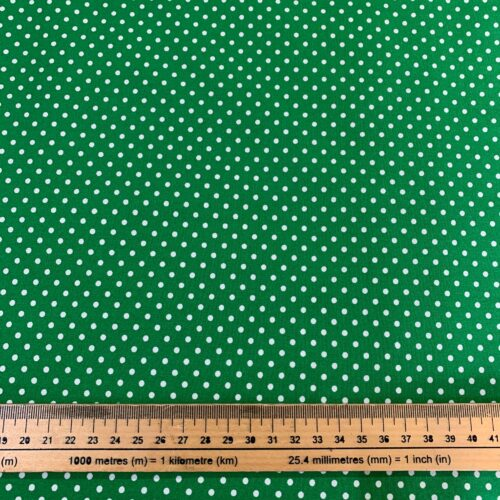 Dotty Emerald Cotton Poplin Fabric - Fat Quarter