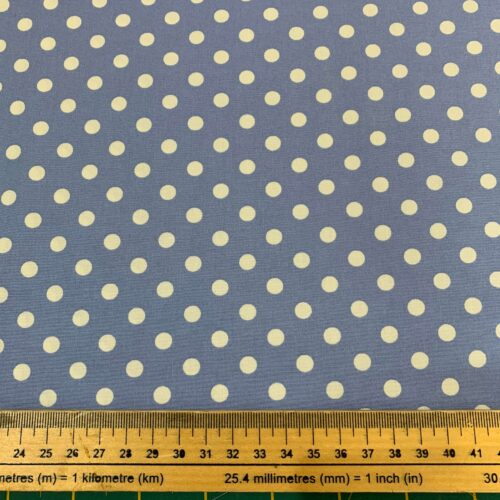 Spotty Blue Cotton Poplin Fabric - Fat Quarter