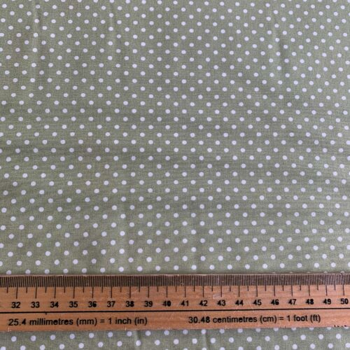 Dotty Meadow Green Cotton Poplin Fabric - Fat Quarter