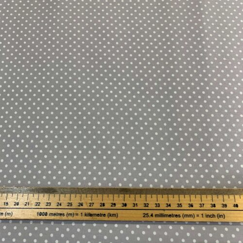 Dotty Silver Cotton Poplin Fabric - Fat Quarter