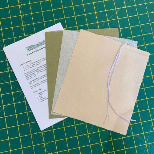 Pleated Face Mask Kit: Plain Cadet Beige/Khaki