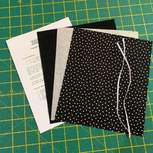 Pleated Face Mask Kit: Black Star/Plain
