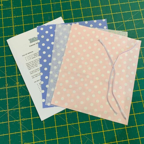 Pleated Face Mask Kit: Spotty Pink/Blue