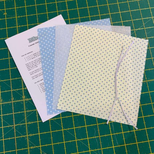Pleated Face Mask Kit: Dotty Blue/Cream Blue