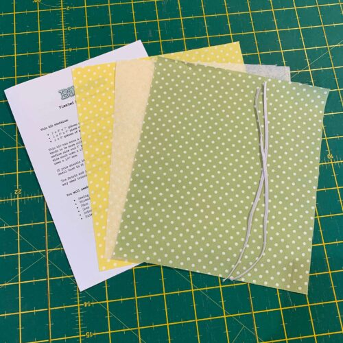 Pleated Face Mask Kit: Dotty Sage/Yellow