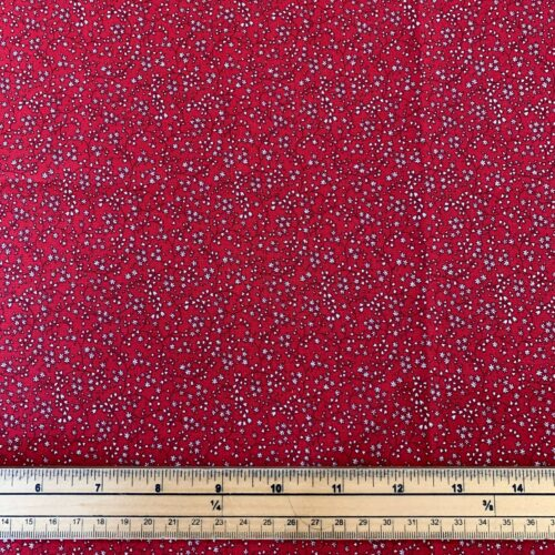 Vintage Miniatures Red Cotton Fabric - Fat Quarter