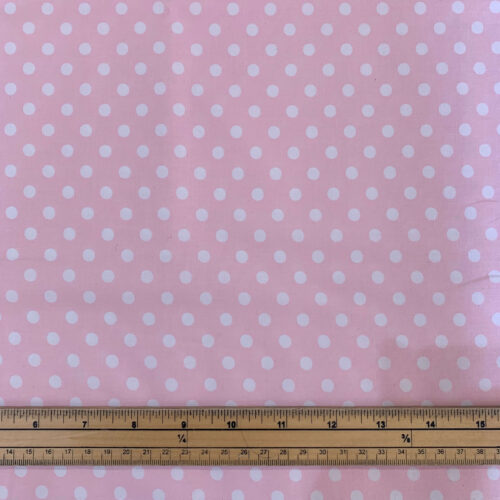 Spotty Pink Cotton Poplin Fabric - Fat Quarter