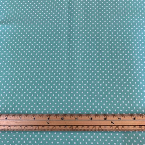 Dotty Pastel Green Cotton Poplin Fabric - Fat Quarter