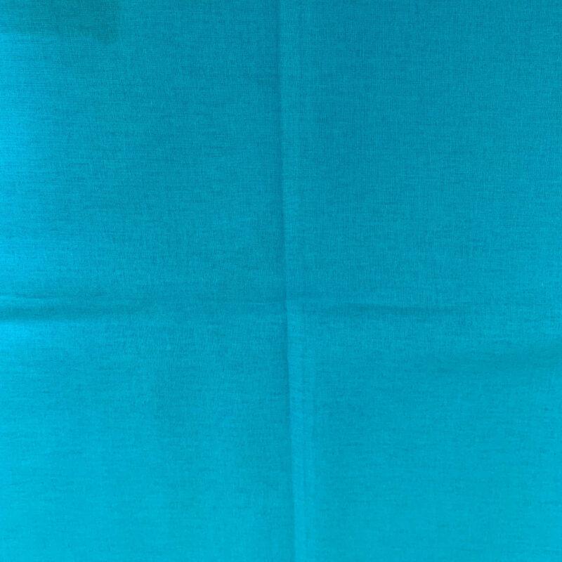 Plain Dark Aqua Cotton Fabric - Fat Quarter
