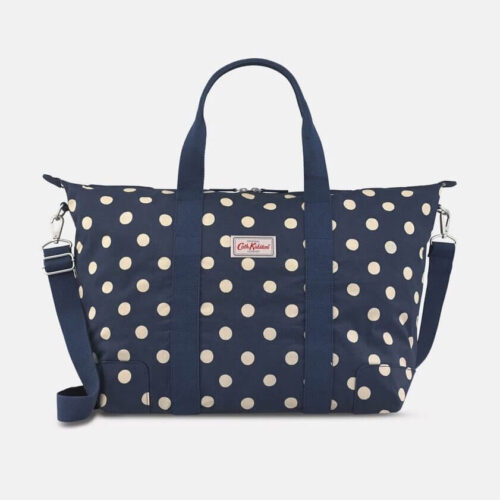 Cath Kidston Button Spot Navy Foldaway Overnight Bag