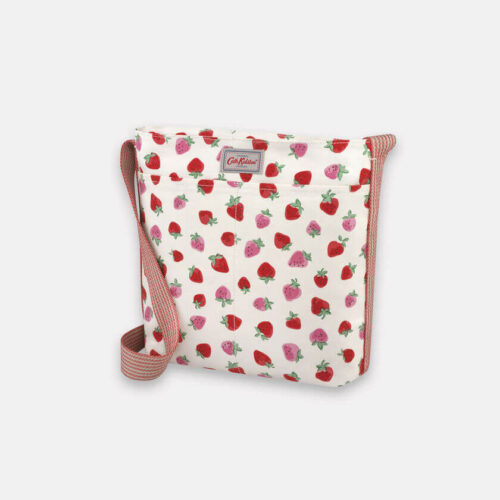 Cath Kidston Sweet Strawberry Zipped Messenger Bag
