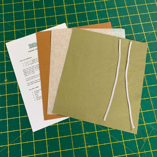 Pleated Face Mask Kit: Plain Khaki/Biscuit