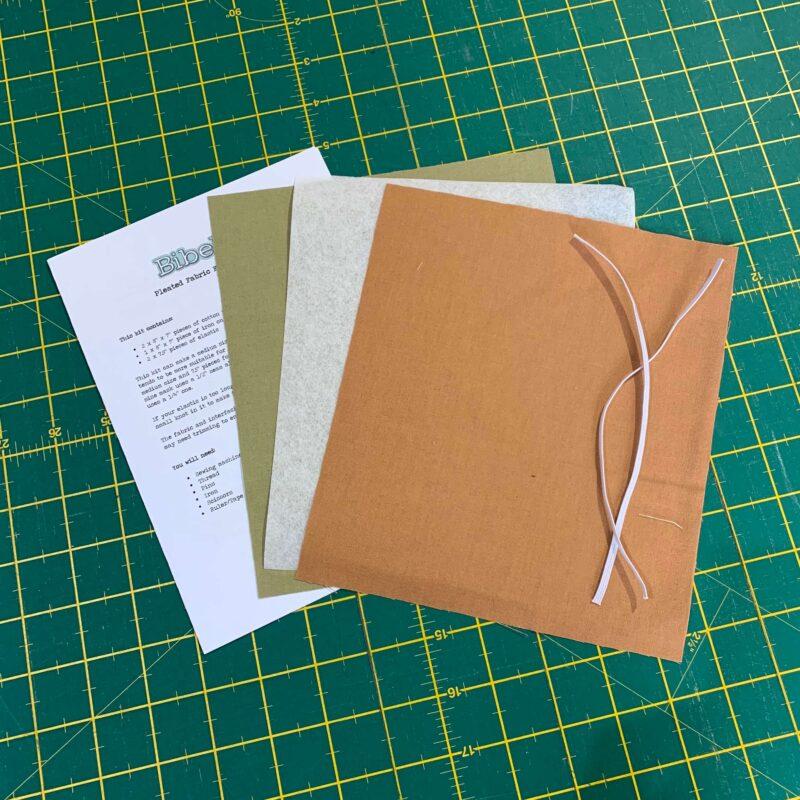 Pleated Face Mask Kit: Plain Khaki/Biscuit