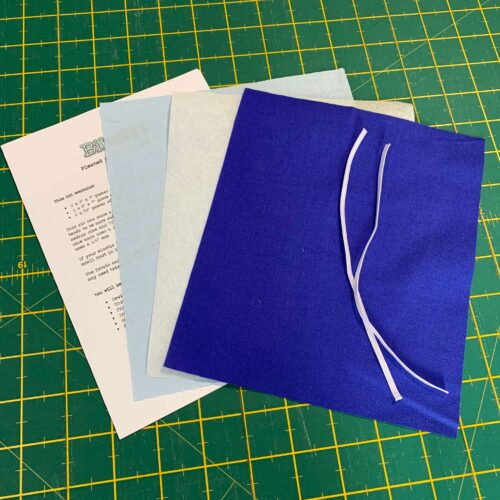 Pleated Face Mask Kit: Plain Royal Blue/Pale Blue