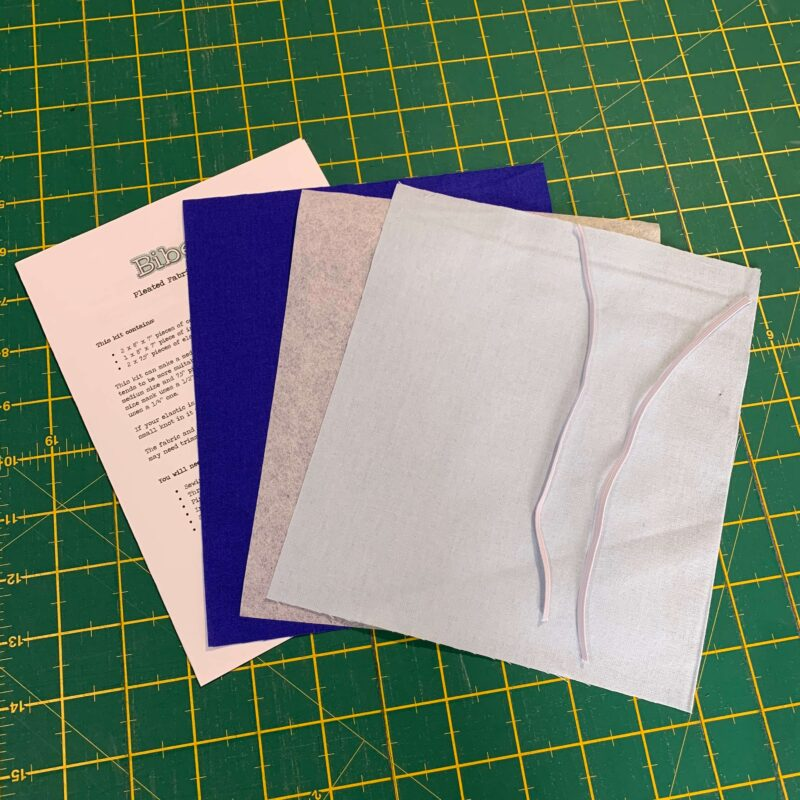 Pleated Face Mask Kit: Plain Royal Blue/Pale Blue