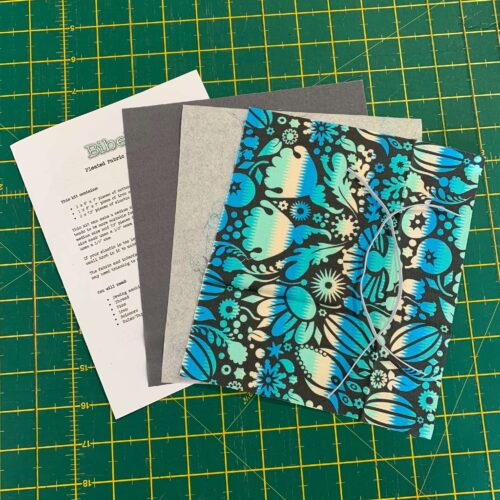 Pleated Face Mask Kit: Turquoise Floral