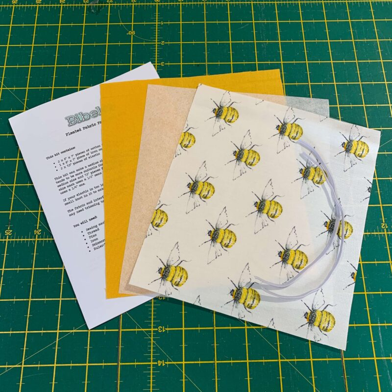 Pleated Face Mask Kit: Rose & Hubble Bee