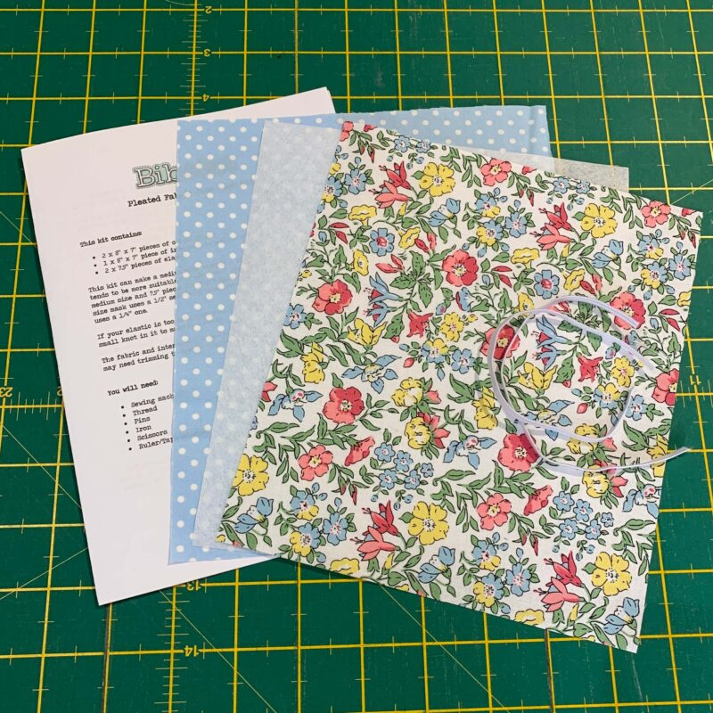 Pleated Face Mask Kit: Liberty Flower Show Spring: Mamie