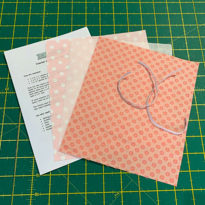Pleated Face Mask Kit: Liberty The English Garden: Floral Dot Pink