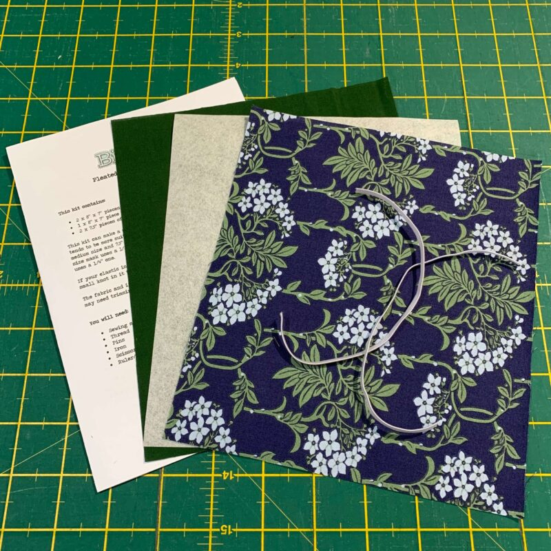 Pleated Face Mask Kit: Liberty The Hesketh House: Nouveau Mayflower Blue