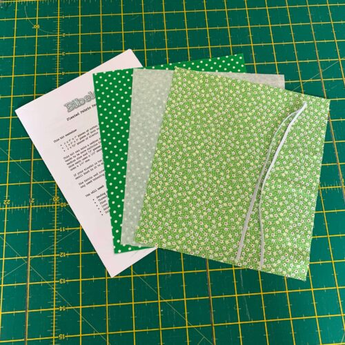 Pleated Face Covering Kit: Vintage Miniatures Green