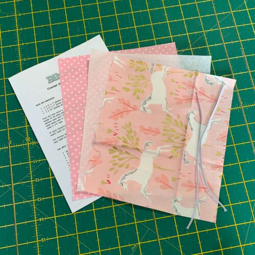 Pleated Face Covering Kit: Michael Miller: Unicorn Fores