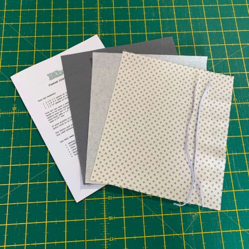 Pleated Face Covering Kit: Tilda: Tiny Star Grey