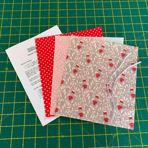 Pleated Face Covering Kit: Tilda: Maple Farm: Cherrybush Mauve
