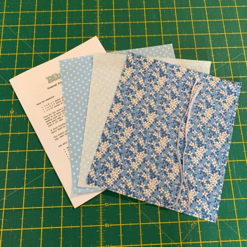 Pleated Face Covering Kit: Tilda: Apple Butter: Peggy Blue