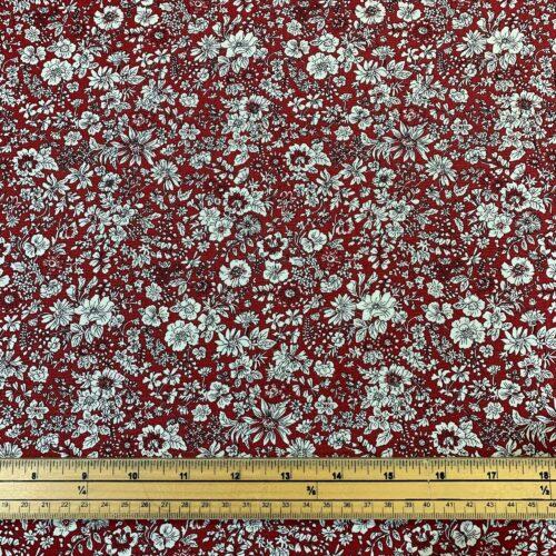 Liberty Fabrics - Flower Show Winter: Emily Silhouette Red - £15 per metre