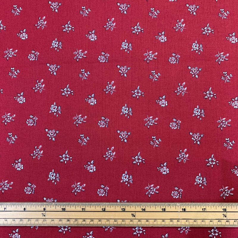 Liberty Fabrics - Flower Show Winter: Abbeywood Red - £15 per metre