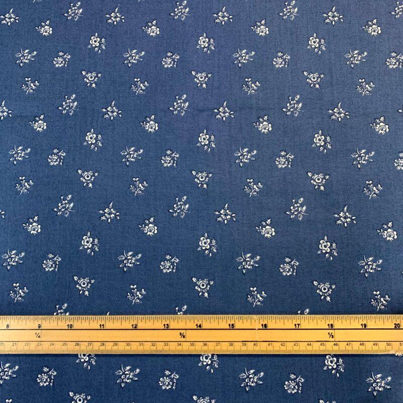 Liberty Fabrics - Flower Show Winter: Abbeywood Blue - £15 per metre