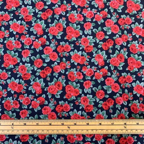 Liberty Fabrics - Flower Show Winter: Ascot Rose - £15 per metre